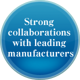 Strong collaborations with leading manufacturers